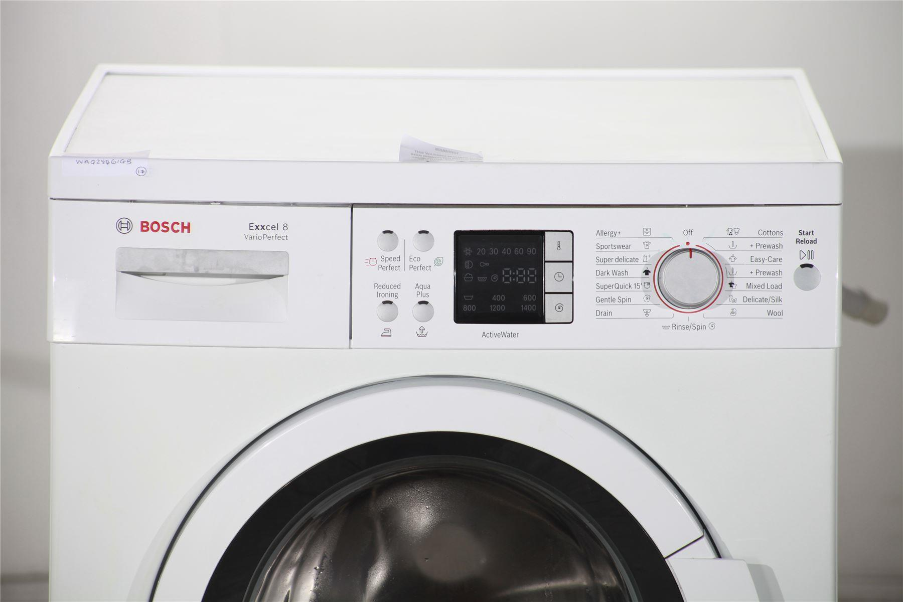 how to use a bosch exxcel washing machine