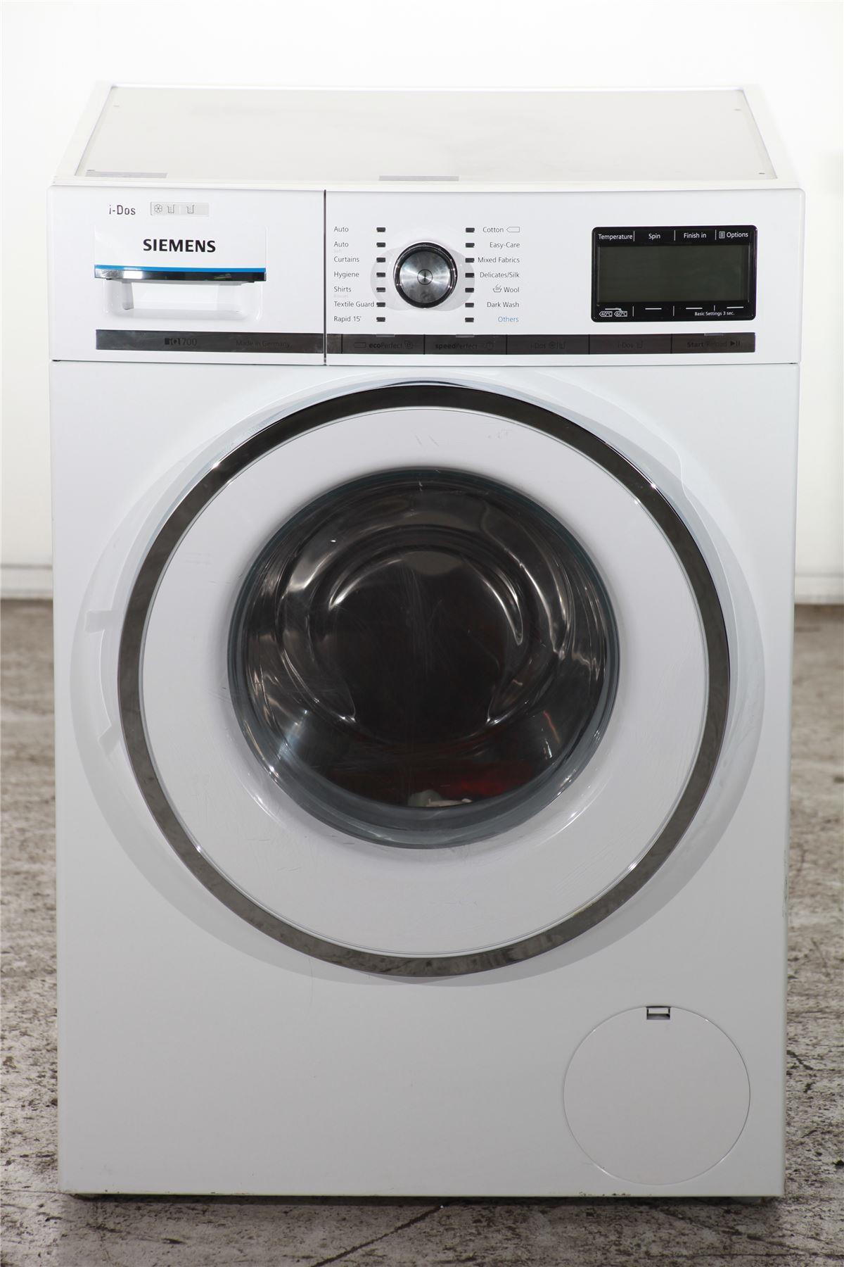 siemens iq700 8kg washing machine wm14y891gb white online store. Black Bedroom Furniture Sets. Home Design Ideas