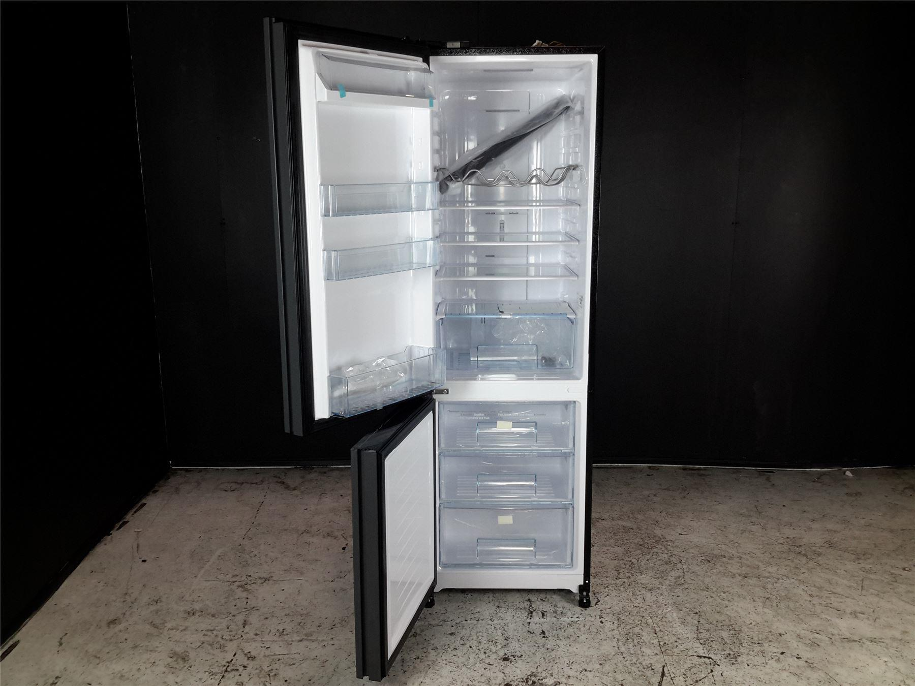 Range Style Cookers >> JLFSBK2001 Fridge Freezer, Black Glass | Online Store