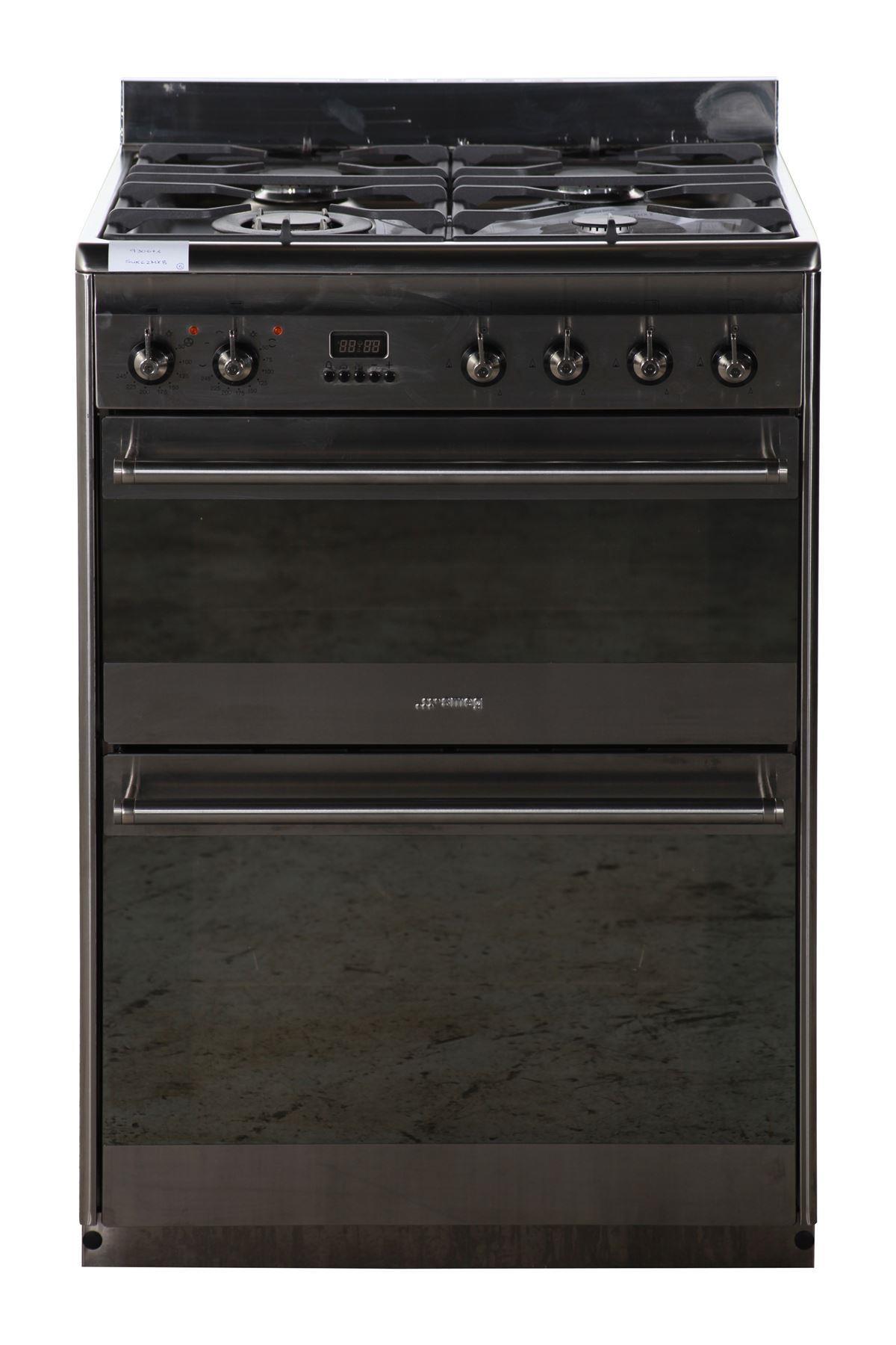 smeg dual fuel cooker suk62mx8 silver online store. Black Bedroom Furniture Sets. Home Design Ideas