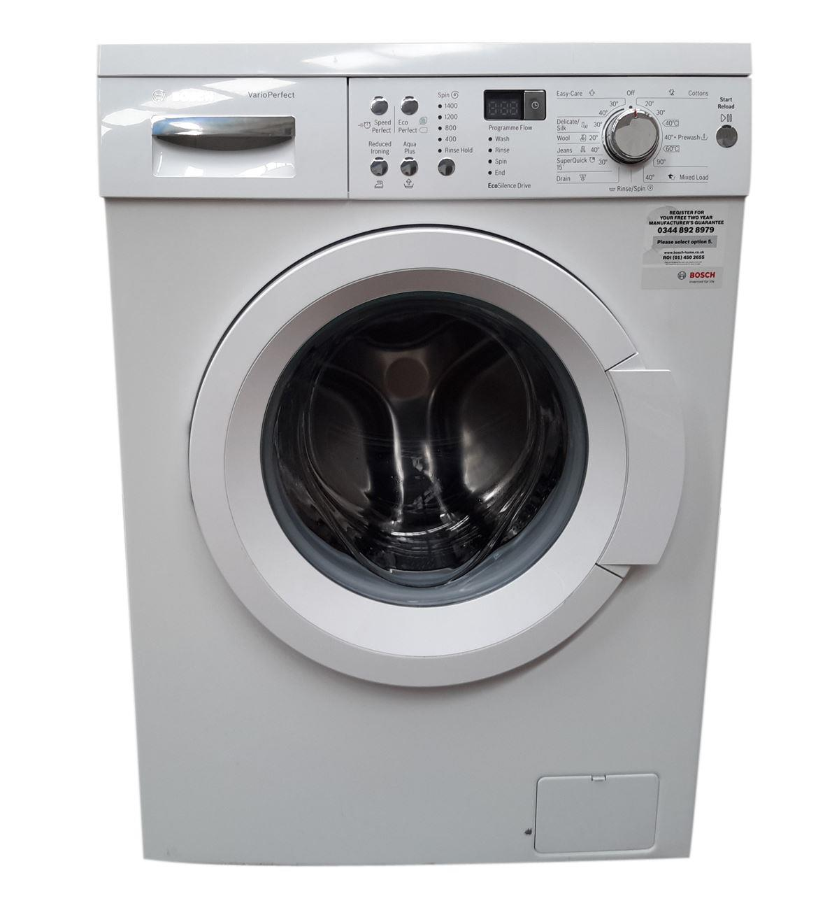 bosch serie 6 waq283s1gb 8kg washing machine white. Black Bedroom Furniture Sets. Home Design Ideas