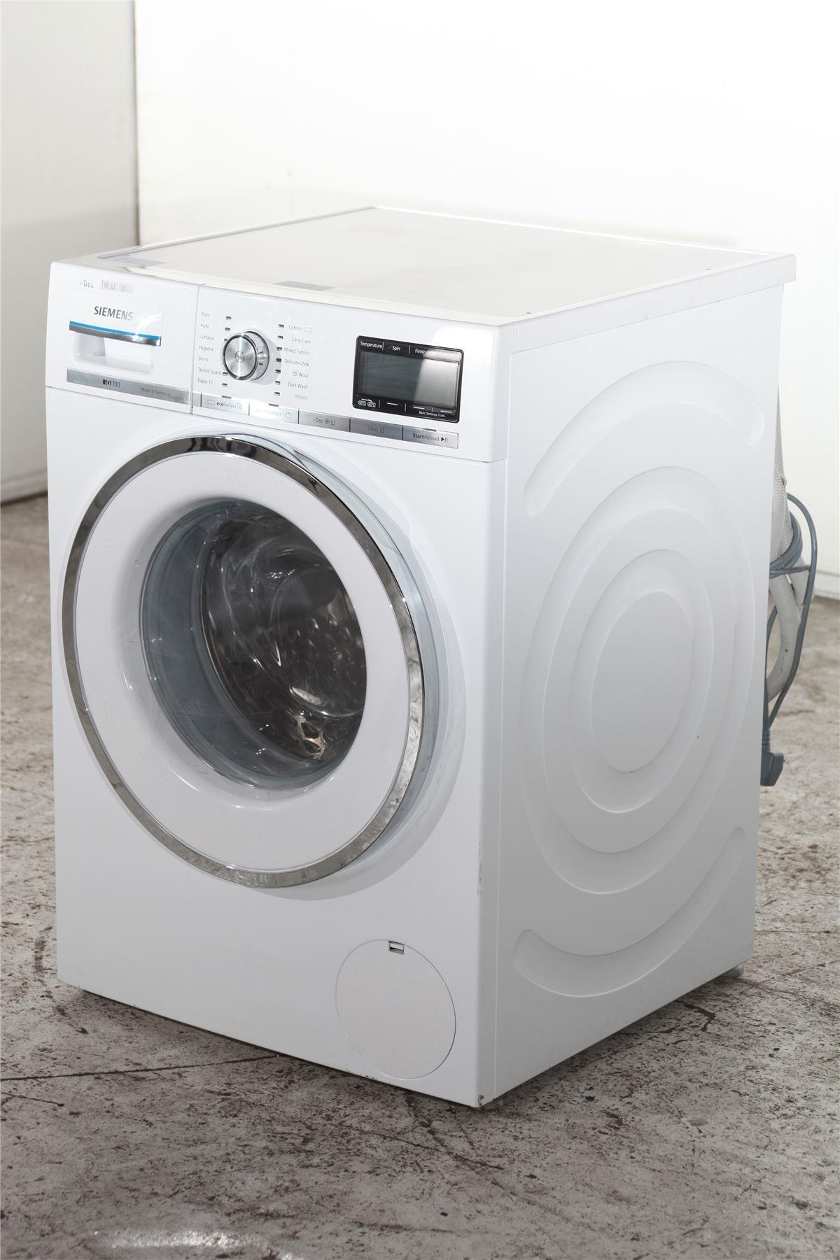siemens iq700 8kg washing machine wm14y891gb white. Black Bedroom Furniture Sets. Home Design Ideas