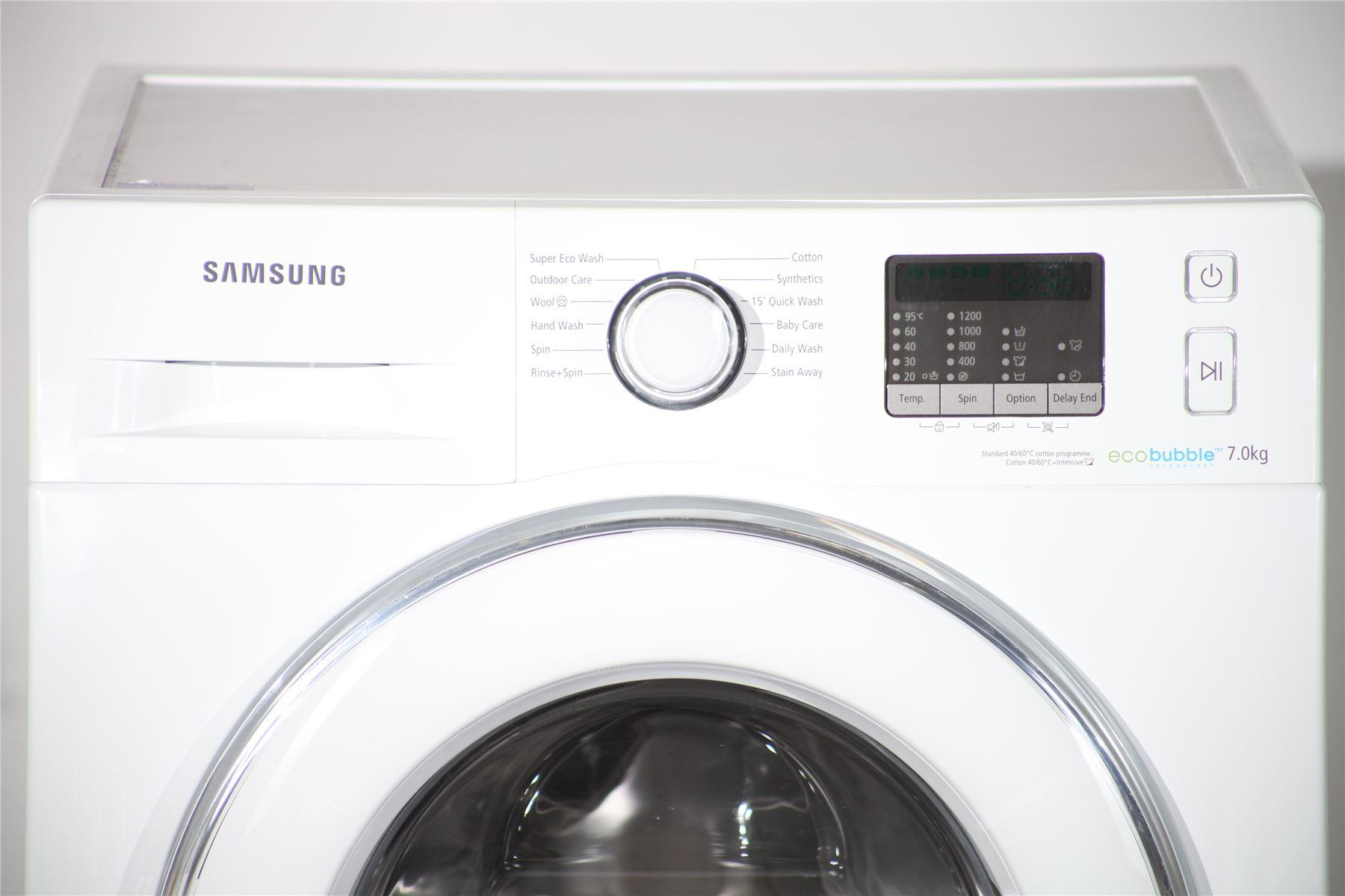 samsung 7kg washing machine eco bubble wf70f5e2w2w. Black Bedroom Furniture Sets. Home Design Ideas
