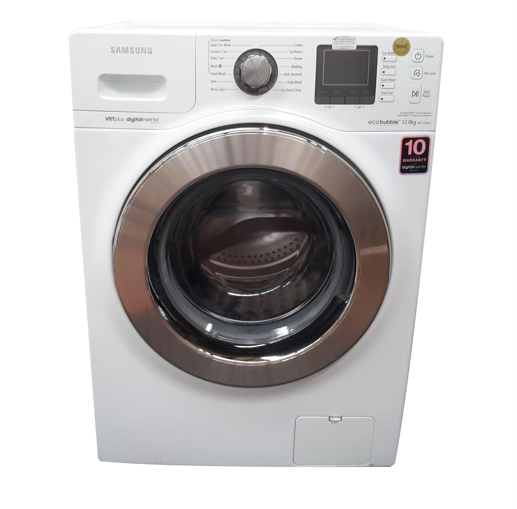 samsung wf1124xac xeu eco bubble washing machine 12kg wash load 1400 rpm spin a energy rating. Black Bedroom Furniture Sets. Home Design Ideas