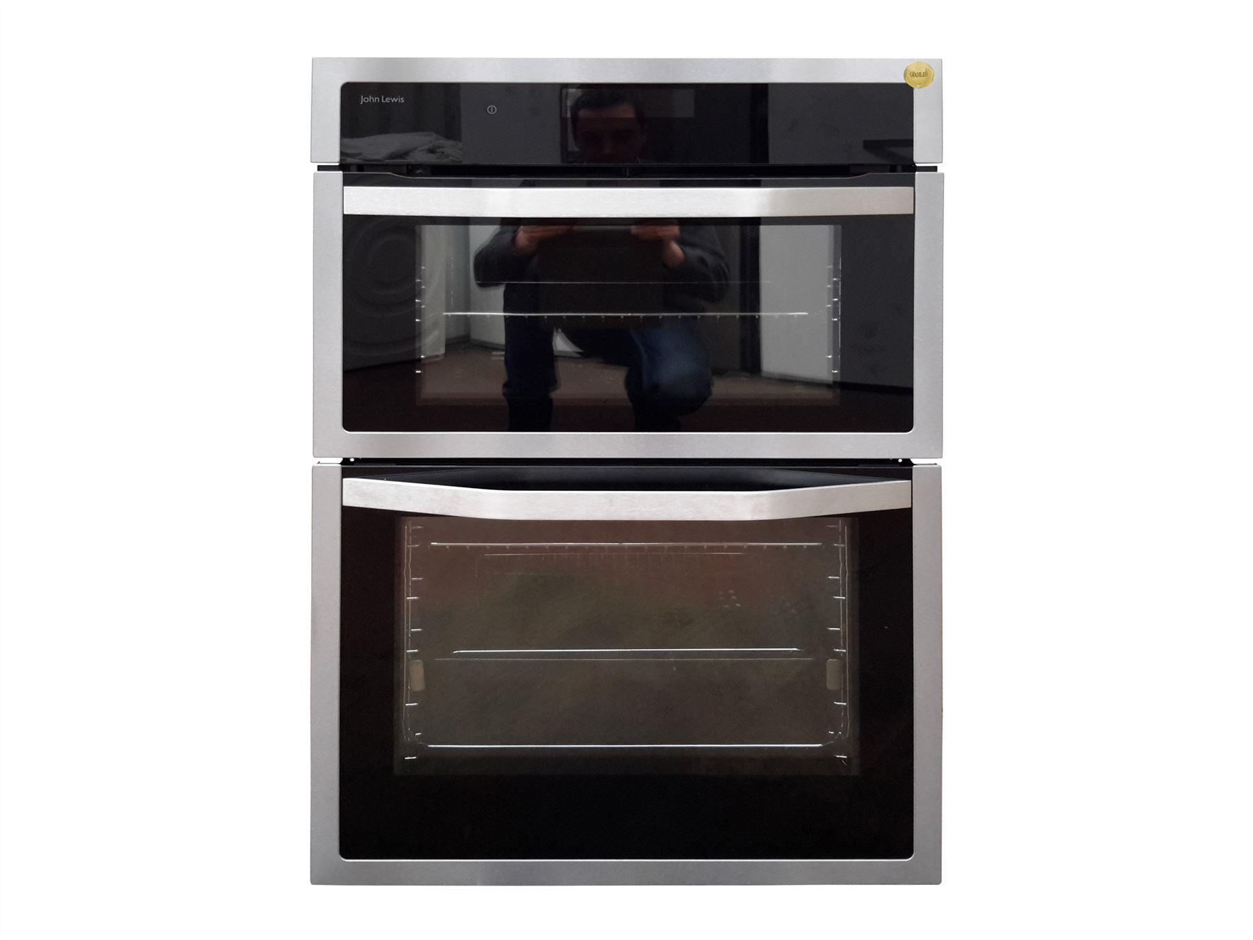 john lewis jlbido915x double electric oven stainless. Black Bedroom Furniture Sets. Home Design Ideas