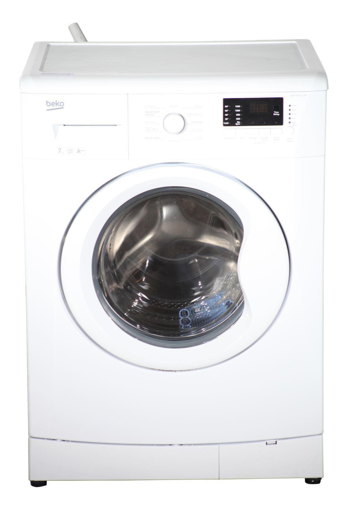 beko 7kg washing machine wm74155lw white online store. Black Bedroom Furniture Sets. Home Design Ideas