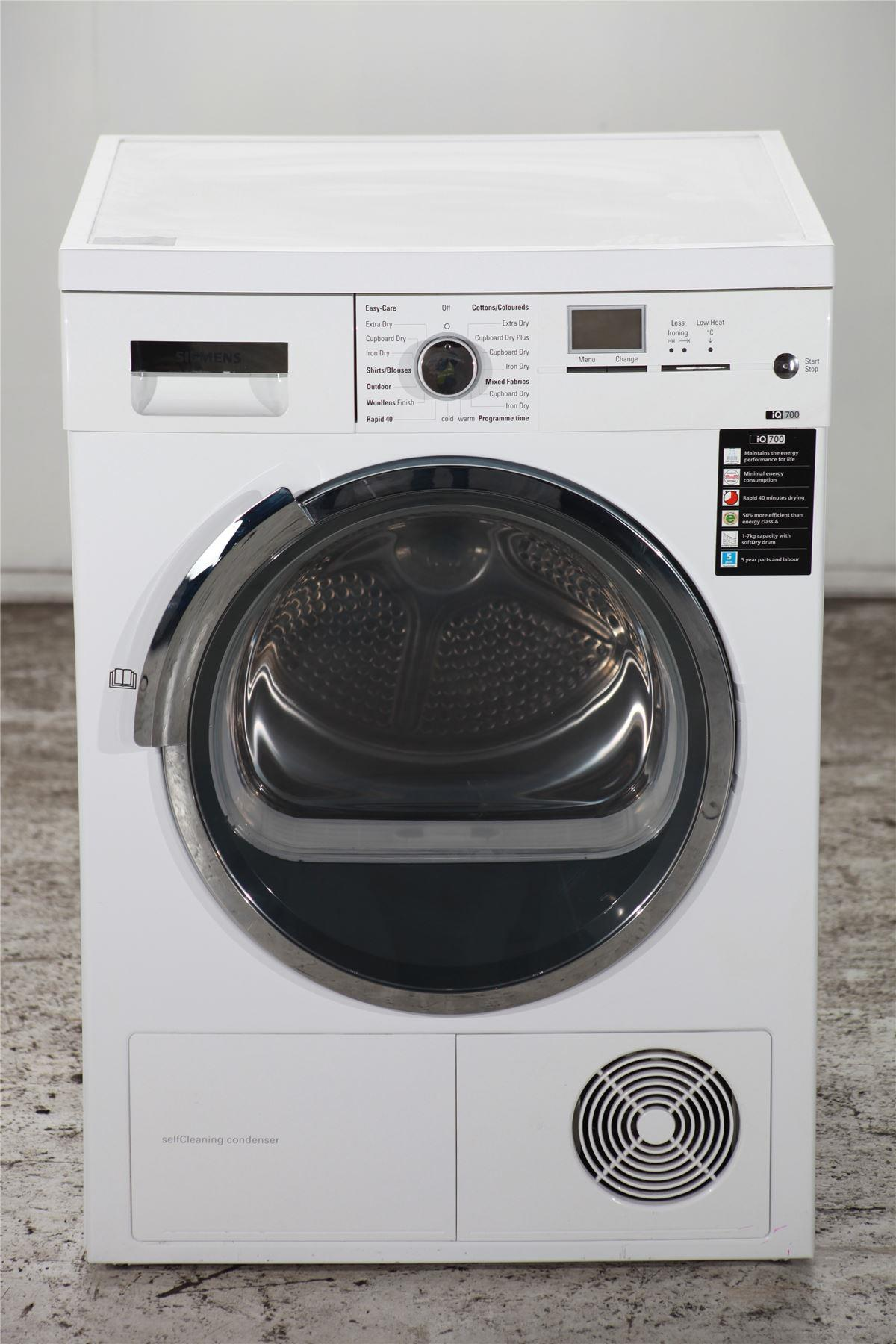 siemens iq700 7kg tumble dryer wt46w566gb white. Black Bedroom Furniture Sets. Home Design Ideas