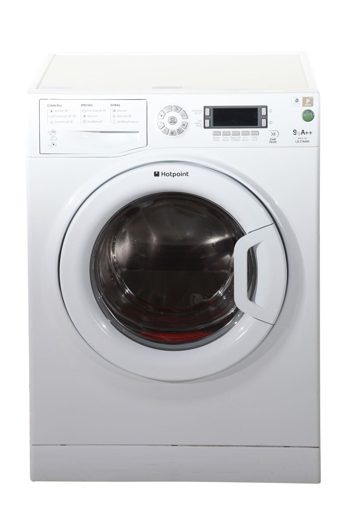 hotpoint ultima 9kg washing machine wmud942puk white. Black Bedroom Furniture Sets. Home Design Ideas