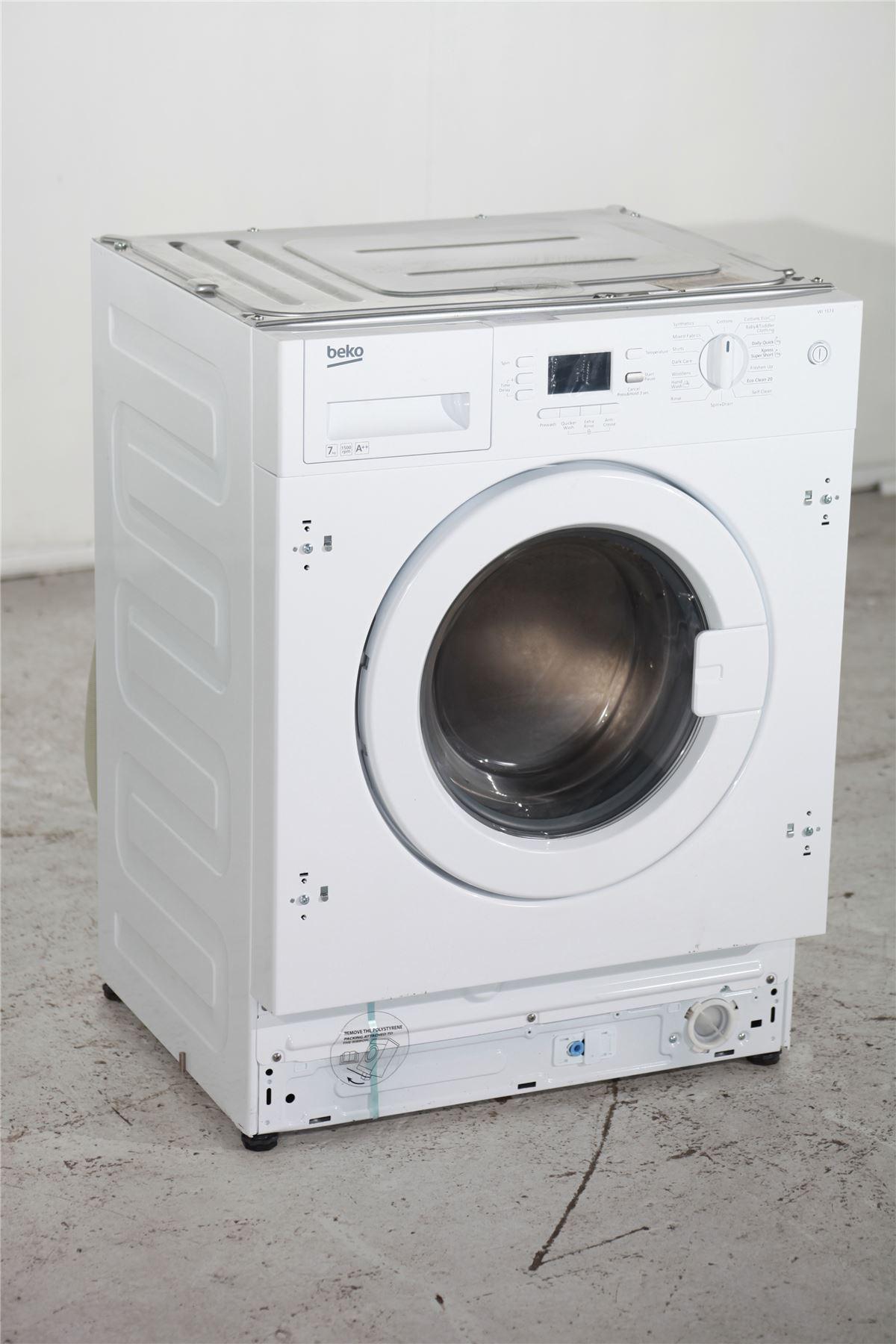 beko 7kg 1500rpm integrated washing machine wi1573. Black Bedroom Furniture Sets. Home Design Ideas