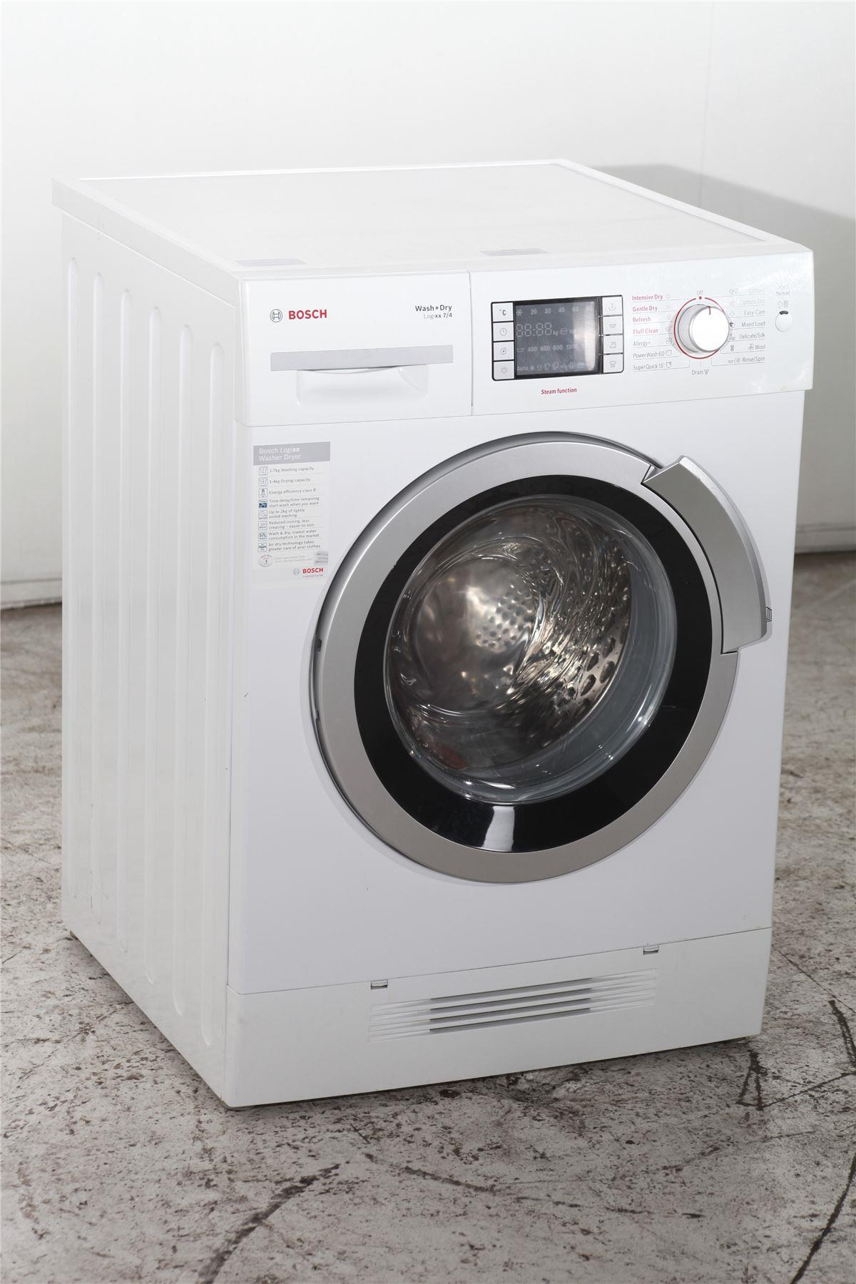 bosch logixx 7 4kg washer dryer wvh28421gb white. Black Bedroom Furniture Sets. Home Design Ideas