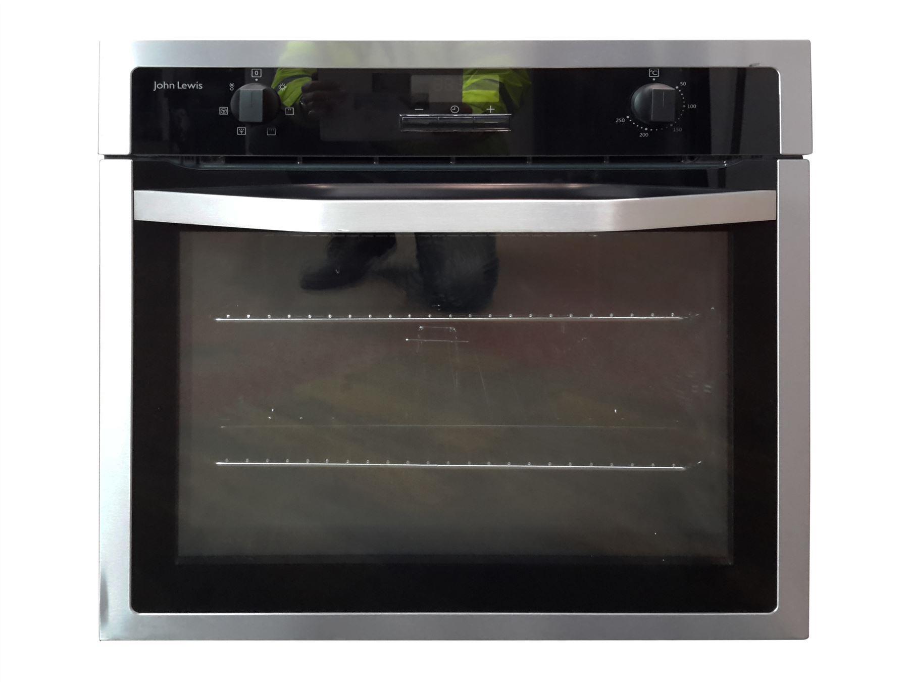 john lewis jlbios621 electric single oven black stainless. Black Bedroom Furniture Sets. Home Design Ideas